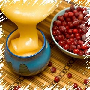 Мед и ягоды калины